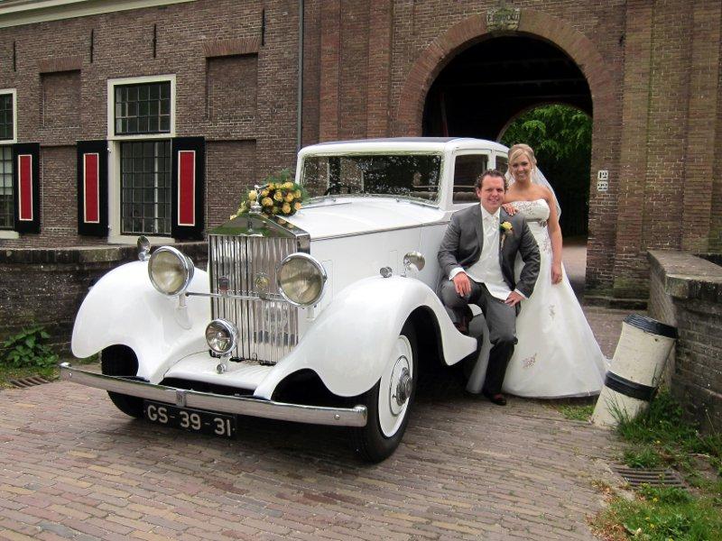 Rolls Royce (1935) / Foto 123Trouwauto / Huize Scheybeeck - Beverwijk