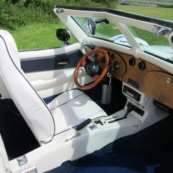 Excalibur Phaeton Cabriolet (wit/wit) trouwauto interieur