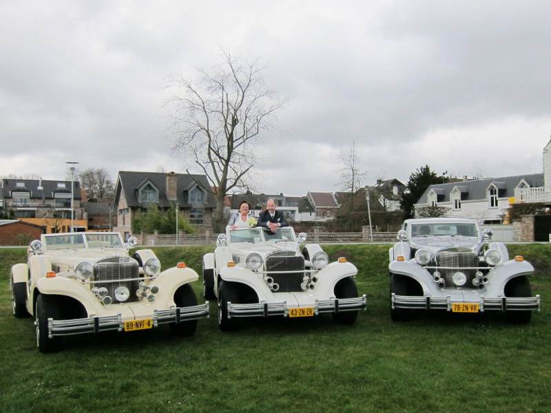 Trouwauto in Sint Amands (Belgiē)